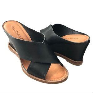 Matisse Habitual Slip on Leather Wedge Sandals